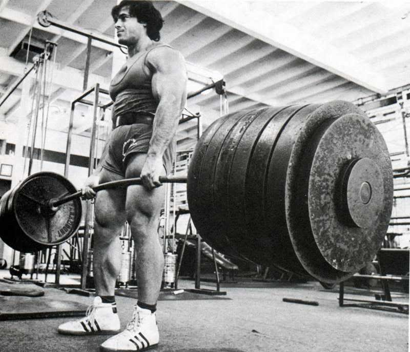 old school deadlift
